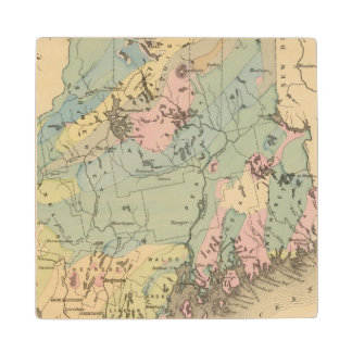 Geological map of Maine Wood Coaster