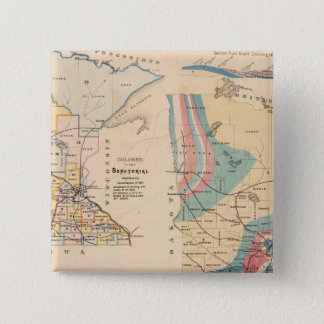 Geological map of Minnesota by NH Winchell 15 Cm Square Badge