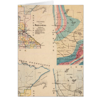 Geological map of Minnesota by NH Winchell Card
