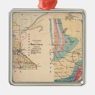 Geological map of Minnesota by NH Winchell Christmas Ornament