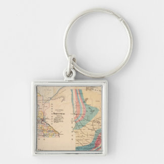 Geological map of Minnesota by NH Winchell Key Ring