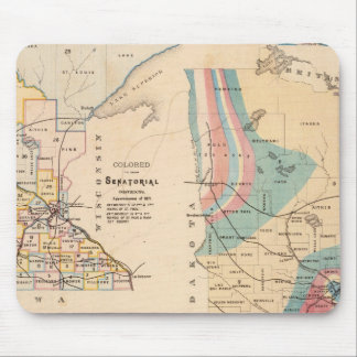 Geological map of Minnesota by NH Winchell Mouse Mat