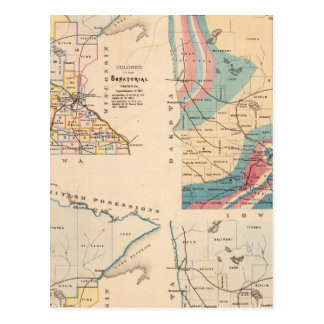 Geological map of Minnesota by NH Winchell Postcard