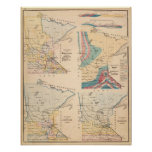 Geological map of Minnesota by NH Winchell Print