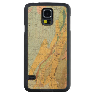 Geological Map of New Hampshire 2 Carved Maple Galaxy S5 Case