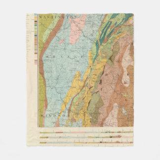 Geological Map of New Hampshire 2 Fleece Blanket