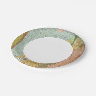 Geological Map of New Hampshire 2 Paper Plate