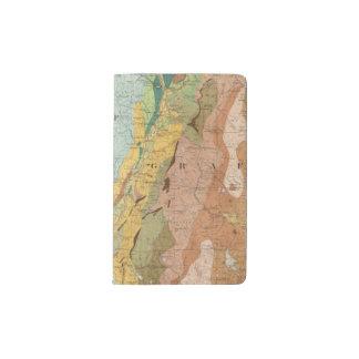 Geological Map of New Hampshire 2 Pocket Moleskine Notebook
