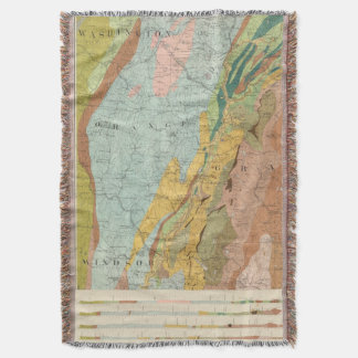 Geological Map of New Hampshire 2 Throw Blanket