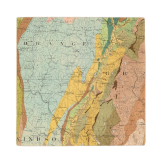 Geological Map of New Hampshire 2 Wood Coaster