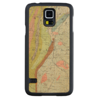 Geological Map of New Hampshire 3 Carved Maple Galaxy S5 Case