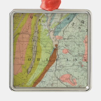 Geological Map of New Hampshire 3 Christmas Ornament