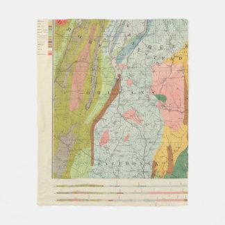 Geological Map of New Hampshire 3 Fleece Blanket