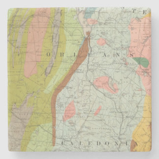 Geological Map of New Hampshire 3 Stone Coaster