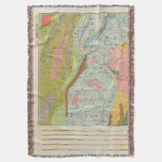 Geological Map of New Hampshire 3 Throw Blanket