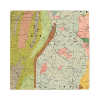 Geological Map of New Hampshire 3 Wood Coaster