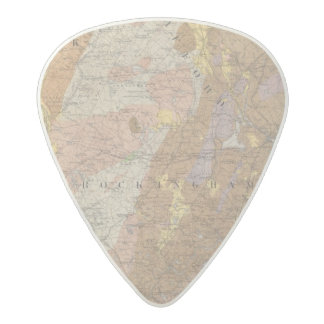 Geological Map of New Hampshire 4 Acetal Guitar Pick