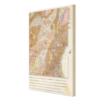 Geological Map of New Hampshire 4 Canvas Print