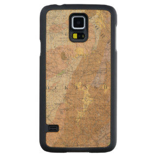 Geological Map of New Hampshire 4 Carved Maple Galaxy S5 Case
