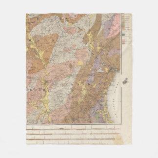Geological Map of New Hampshire 4 Fleece Blanket