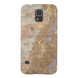 Geological Map of New Hampshire 4 Galaxy S5 Cases