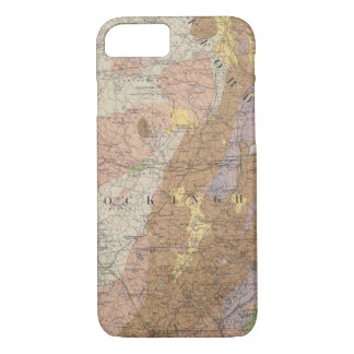 Geological Map of New Hampshire 4 iPhone 8/7 Case