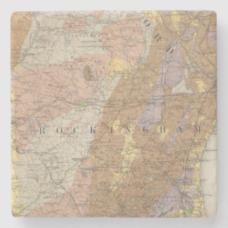 Geological Map of New Hampshire 4 Stone Coaster