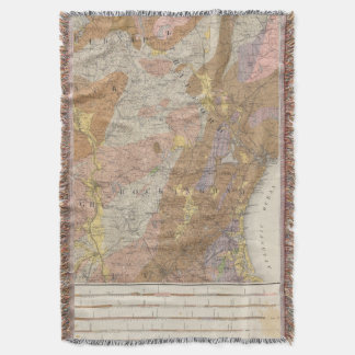 Geological Map of New Hampshire 4 Throw Blanket