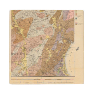 Geological Map of New Hampshire 4 Wood Coaster