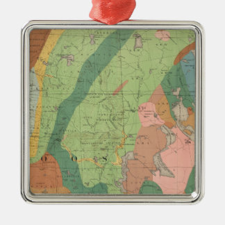 Geological Map of New Hampshire 5 Christmas Ornament