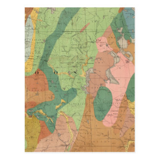 Geological Map of New Hampshire 5 Postcard