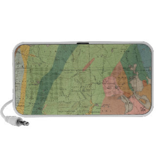 Geological Map of New Hampshire 5 Notebook Speakers