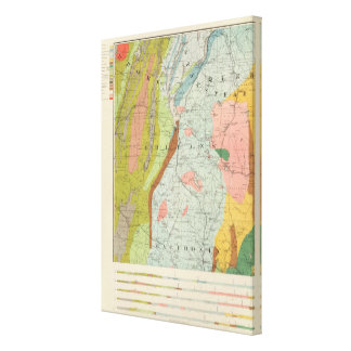 Geological Map of New Hampshire Canvas Print