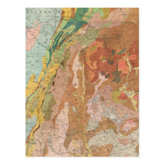 Geological Map of New Hampshire Postcard
