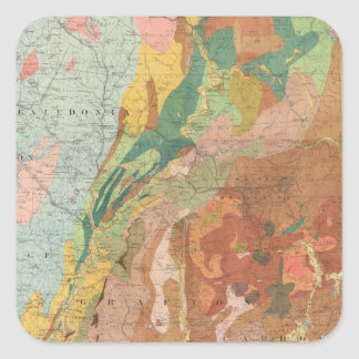 Geological Map of New Hampshire Square Sticker