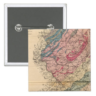 Geological map of New Jersey 15 Cm Square Badge