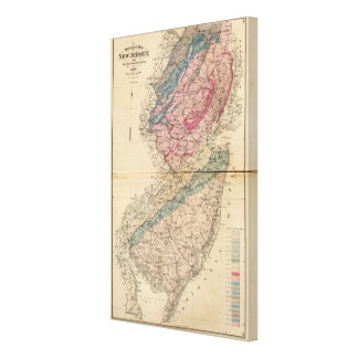 Geological map of New Jersey Canvas Print