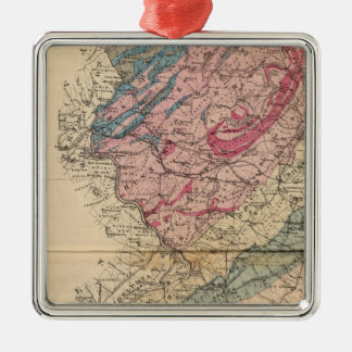 Geological map of New Jersey Christmas Ornament