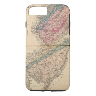 Geological map of New Jersey iPhone 8 Plus/7 Plus Case