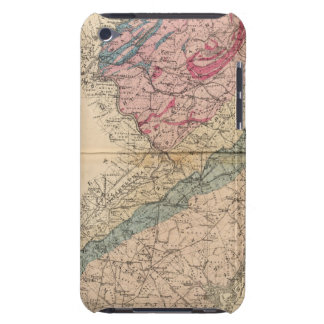 Geological map of New Jersey iPod Case-Mate Case
