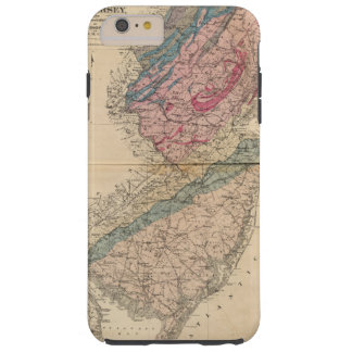 Geological map of New Jersey Tough iPhone 6 Plus Case