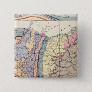 Geological map of Ohio 15 Cm Square Badge