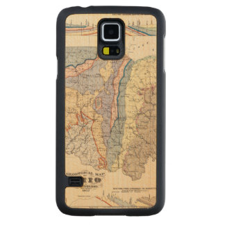 Geological map of Ohio Carved Maple Galaxy S5 Case