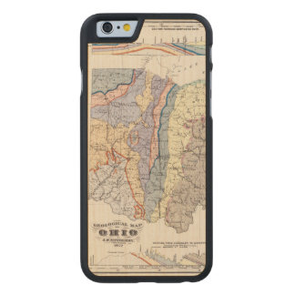 Geological map of Ohio Carved Maple iPhone 6 Case