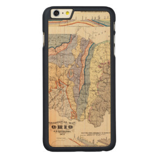 Geological map of Ohio Carved Maple iPhone 6 Plus Case