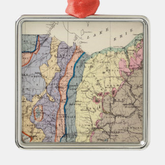 Geological map of Ohio Christmas Ornament