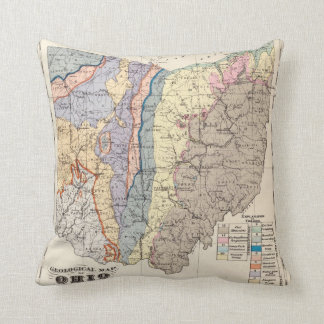 Geological map of Ohio Cushion