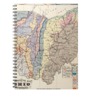 Geological map of Ohio Notebooks