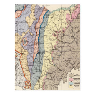 Geological map of Ohio Postcard