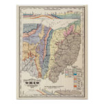 Geological map of Ohio Poster